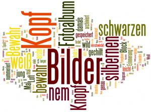 """Wordcloud zu """"Bilder im Kopf"""" von Sido"""